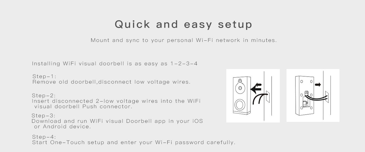 wifi video doorbell wd-608